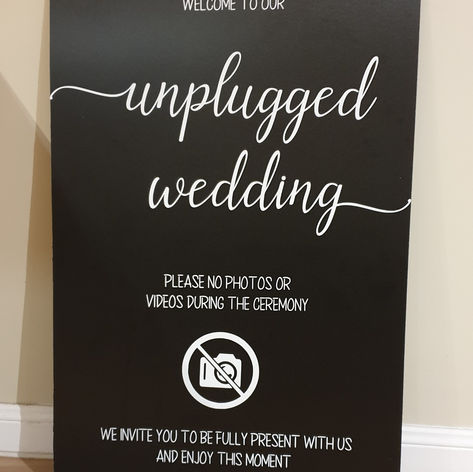 'Unplugged' sign $25