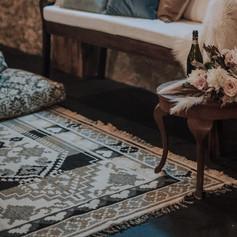 'Aztec yellow' rug $30