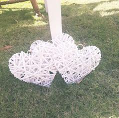 Wicker hearts $5