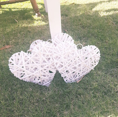 Wicker hearts $5