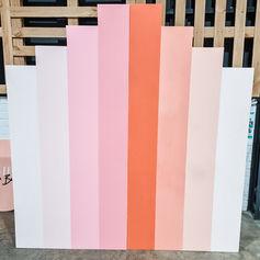 Peaches backdrop $100