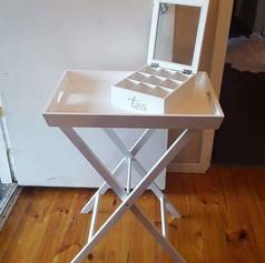Tea time table & box $10