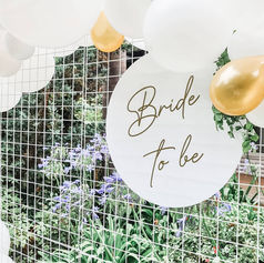 Bride to be circular sign $50