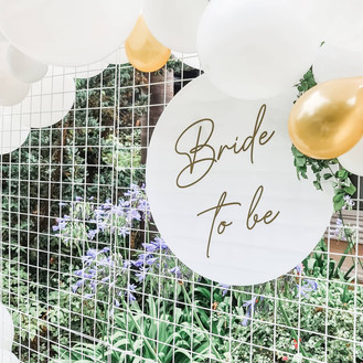 Bride To Be Balloon Garland_White Orchid Events