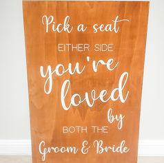 'Pick a seat' sign $25