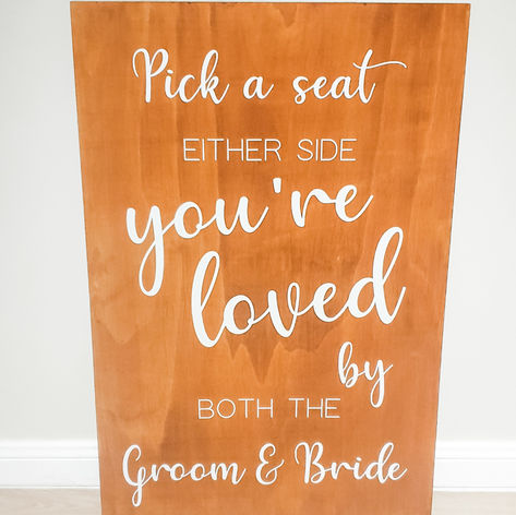 'Pick a seat' sign $25