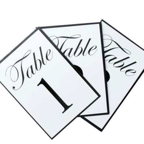 'Royal' Table numbers $20