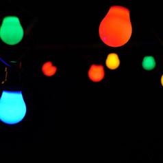 Festoon lighting - coloured $10