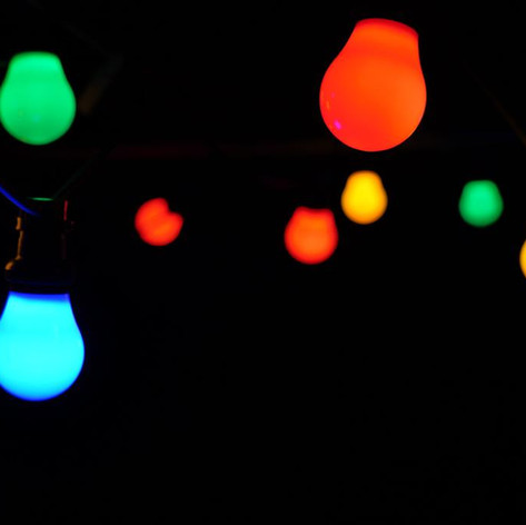 Festoon lighting - coloured $10