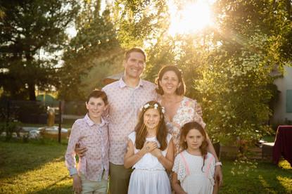 Séance famille coucher de soleil