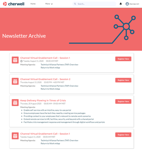 Newsletter Lightning Web Component