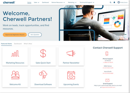Cherwell Partner Community Landing Page
