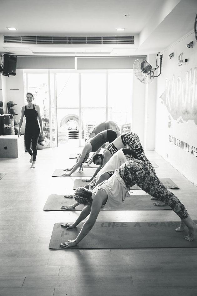 Yoga session with Cecile Trentini