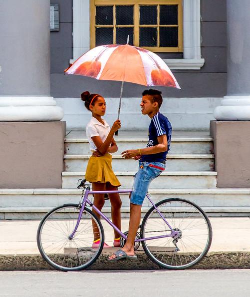 Students with Umbrella