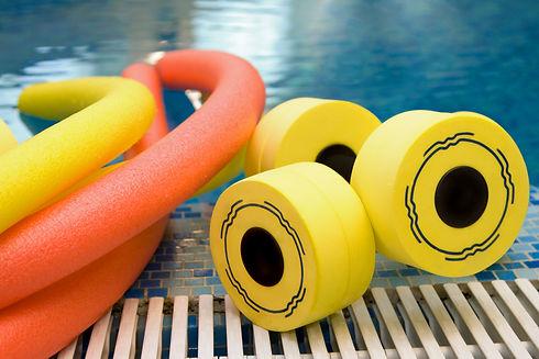 aqua noodles dumbbells for aqua aerobics
