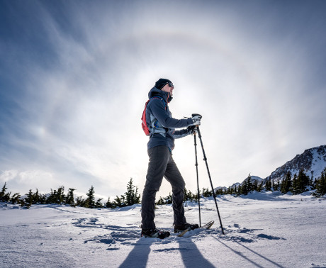 "Go Hike Alaska guest with an amazing ""Sundog"" display"