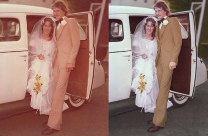 Restoration of and old wedding image