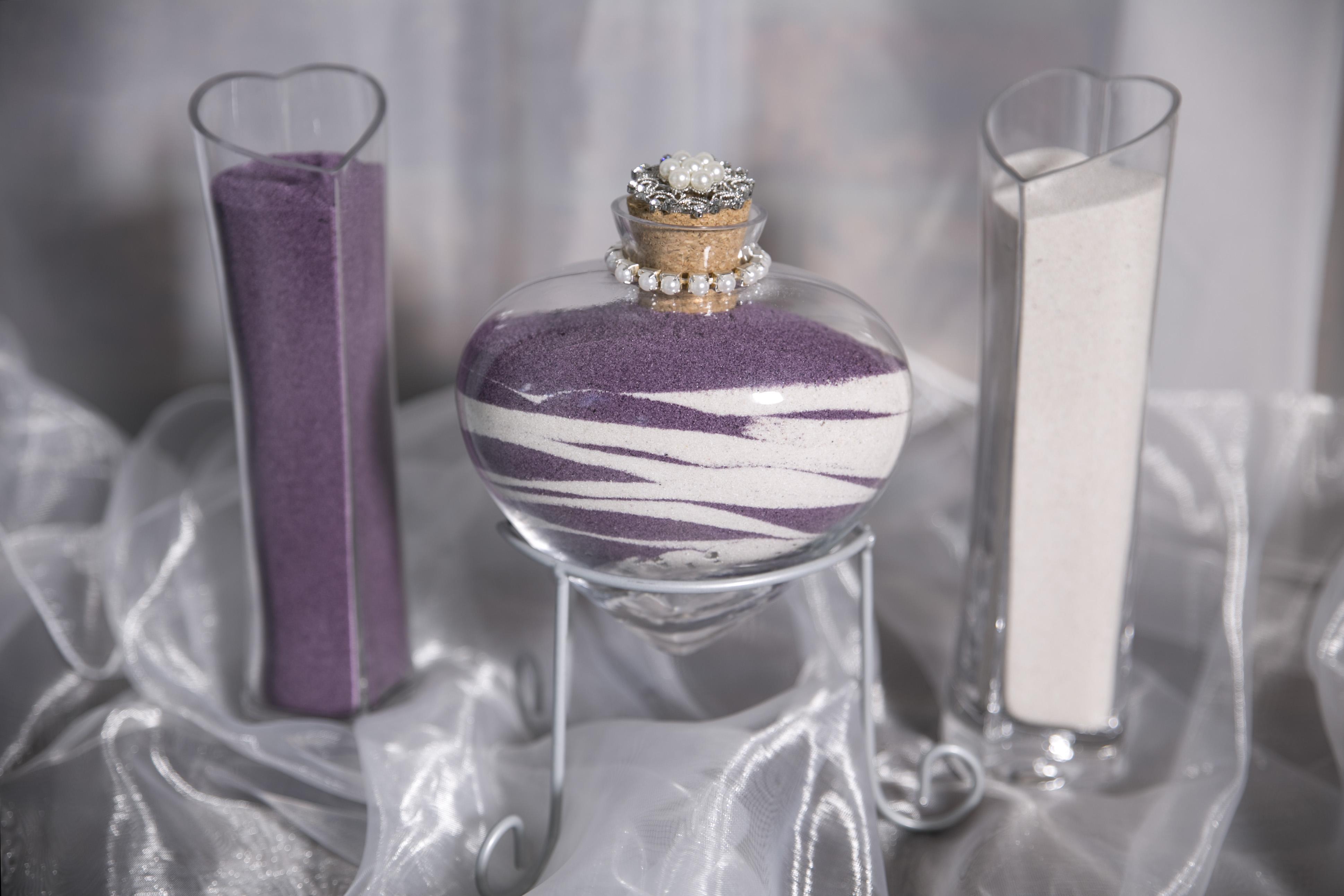Glass Heart Vases
