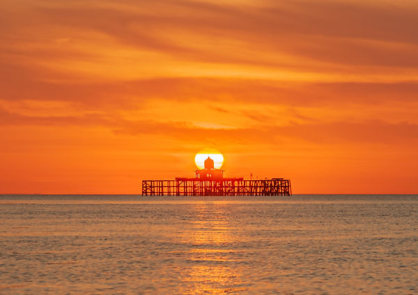 Sun Set Over The Old Pier