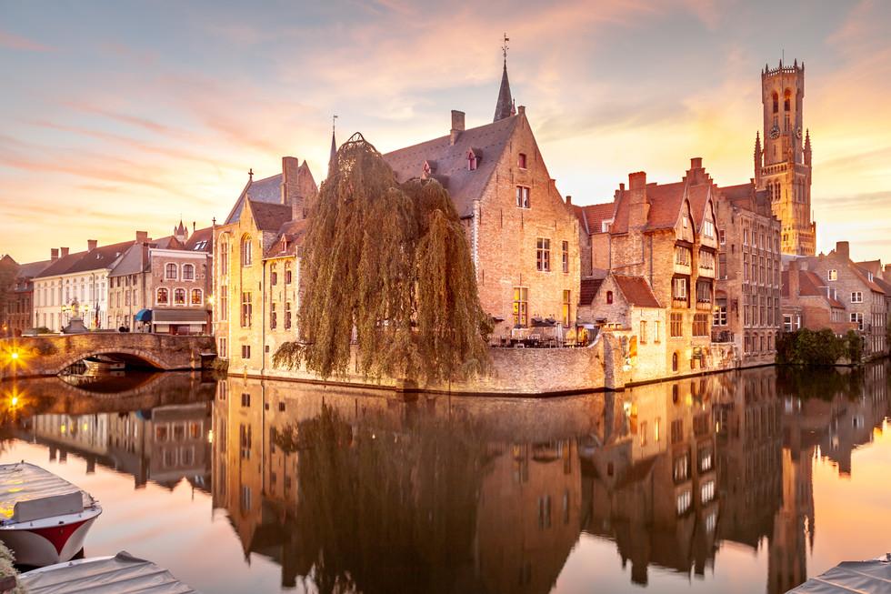 Sunset in Bruges