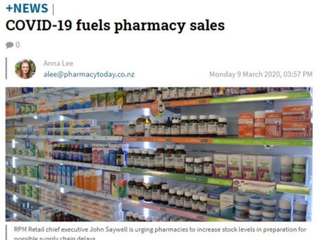 COVID-19 fuels pharmacy sales