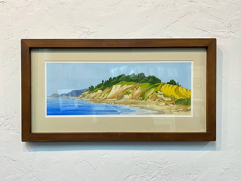 Danish Shoreline Watercolor by Andrew Grum Carr