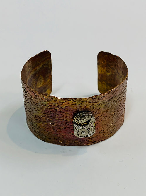 Bitz of Time Copper Cuff with Watch Works