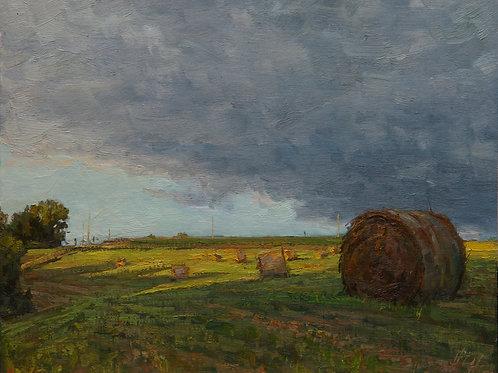 """""""August Hay"""" Hannah C. Heyer Oil Painting"""
