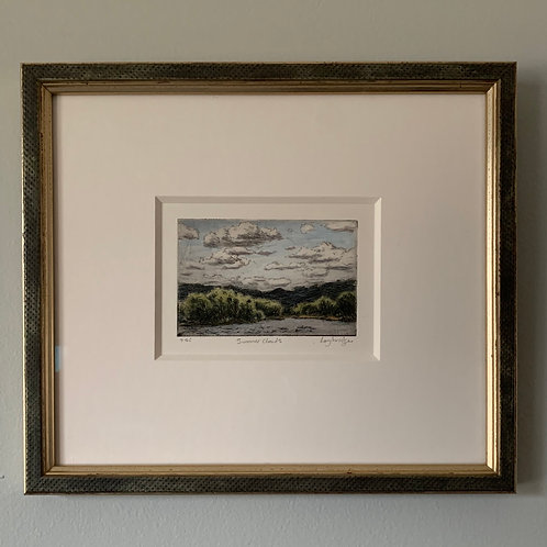 "Stuart Loughridge ""Summer Clouds"" Hand Colored Etching"