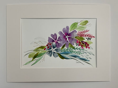 SOLD Floral Bouquet Watercolor by Laurie Plattes