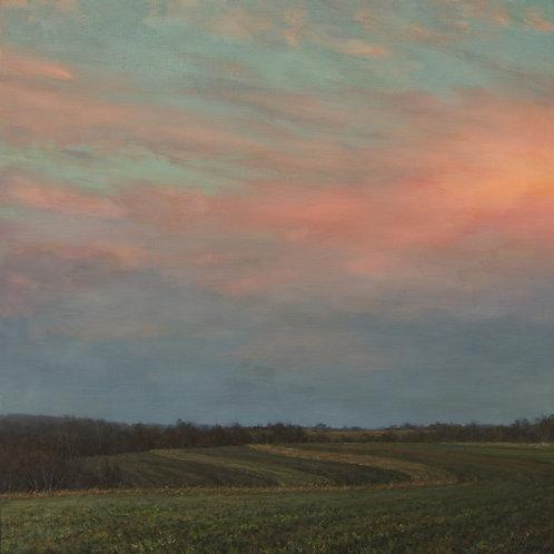 """November Sky Drama"" Hannah C. Heyer Oil Painting"
