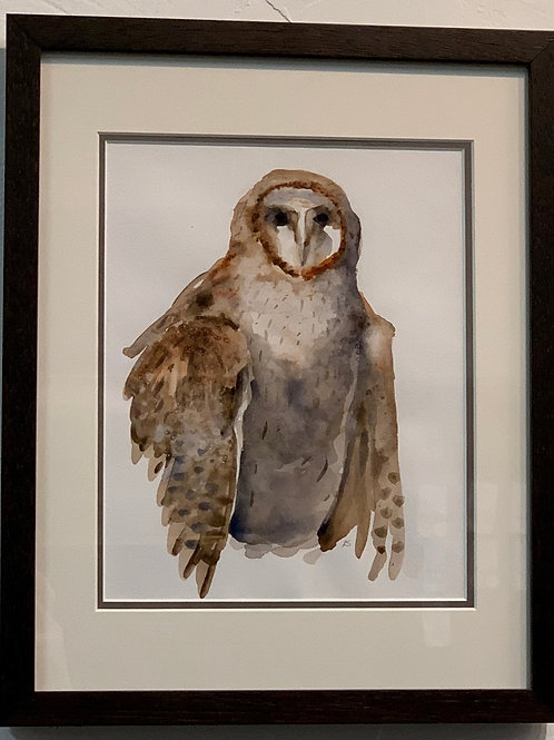 Barn Owl watercolor by Kurt Schulzetenberg