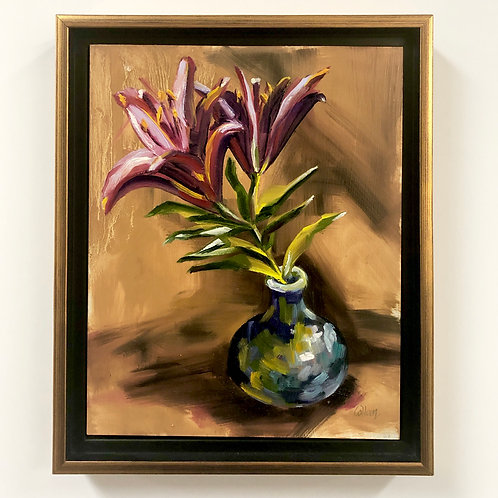 Black Pearl Lillies by Colleen Cosgrove