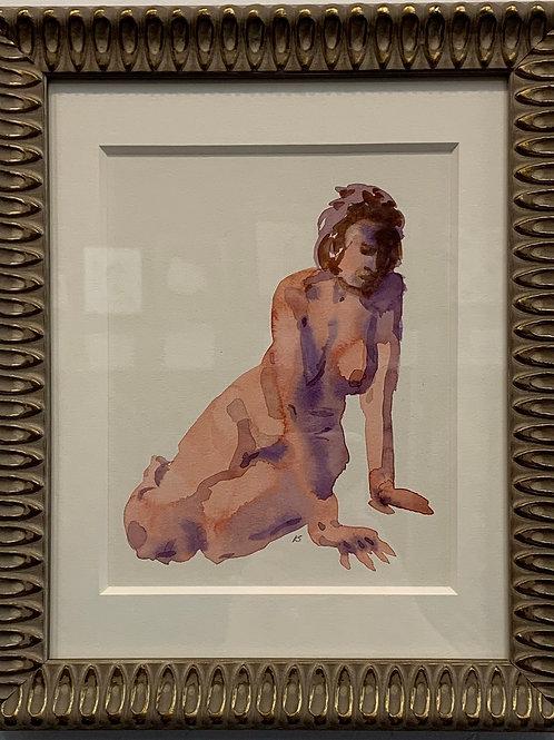 Nude Watercolor by Kurt Schulzetenberg