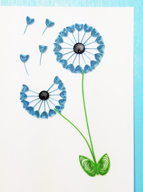Iconic Quilling Dandelion Greeting Card