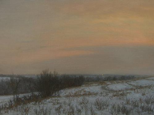 """December Impression"" Hannah C. Heyer Oil Painting"