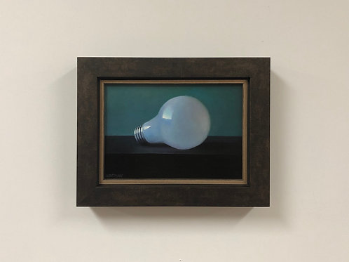 "Anthony Brenny ""Light Bulb"" Oil on Panel"