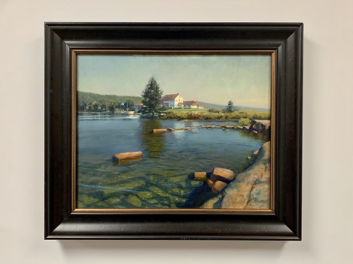 "Bob Upton ""Harbor Water"" Oil Painting"