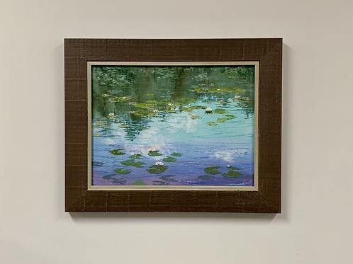 """Lisa Stauffer """"Keller Lake Lilies"""" Pastel"""