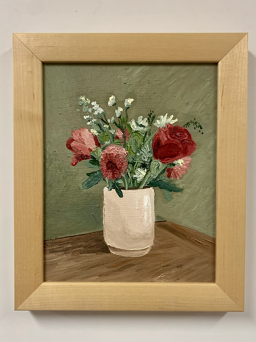 SOLD Summer Bouquet Oil Painting by Sam Patnoe