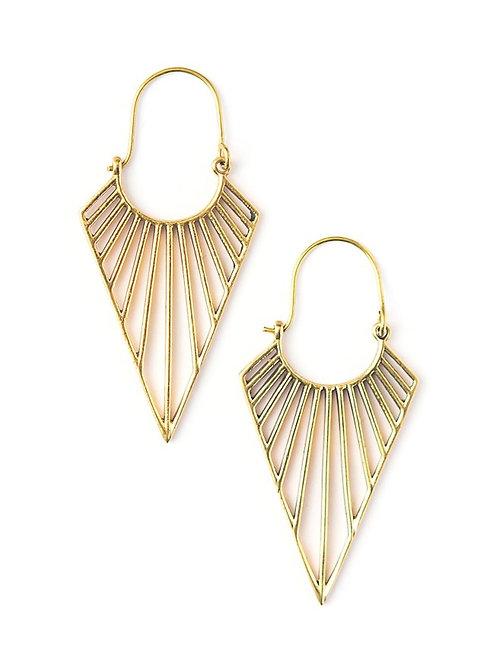 Fair Anita Geometric Triangle Hoop Earrings