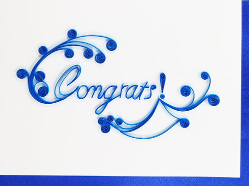 Iconic Quilling Congrats Greeting Card