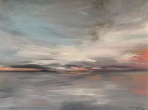SOLD Minnesota Sunrise 36 x 24 Oil by Mandy Madsen