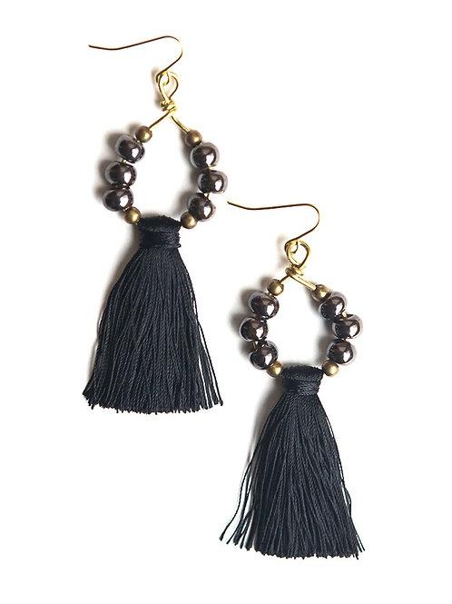 SOLD Fair Anita Ceramic Tassel Earrings