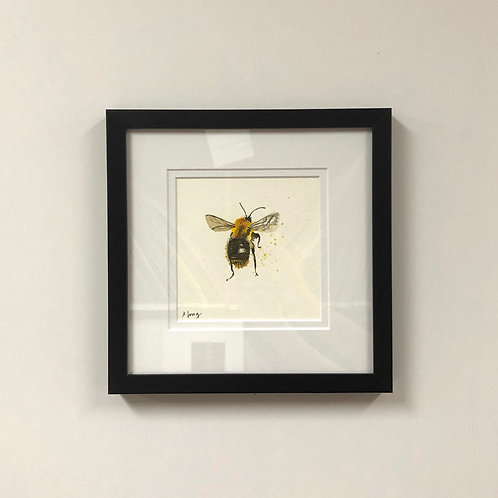 SOLD Jeanne Long Watercolor Bee 2