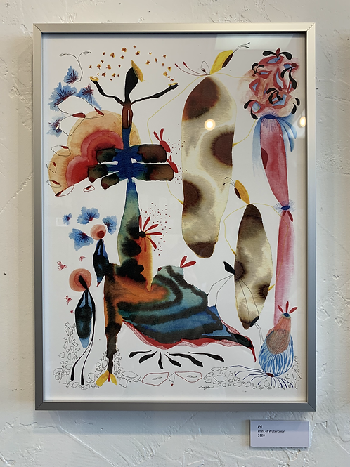P4 Framed Print of Watercolor by Suyao Tian
