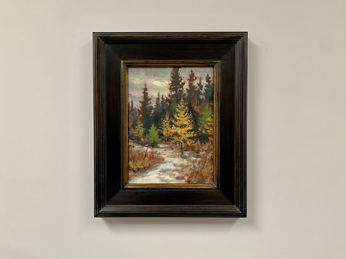 "SOLD Matt Kania ""Early Snow"" Oil Painting"