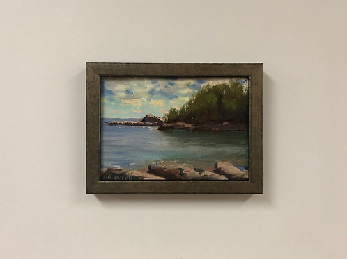 """SOLD Bob Upton """"Sugarloaf Cove"""" Oil Painting"""