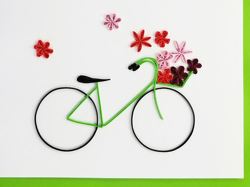 Iconic Quilling Bicycle Greeting Card