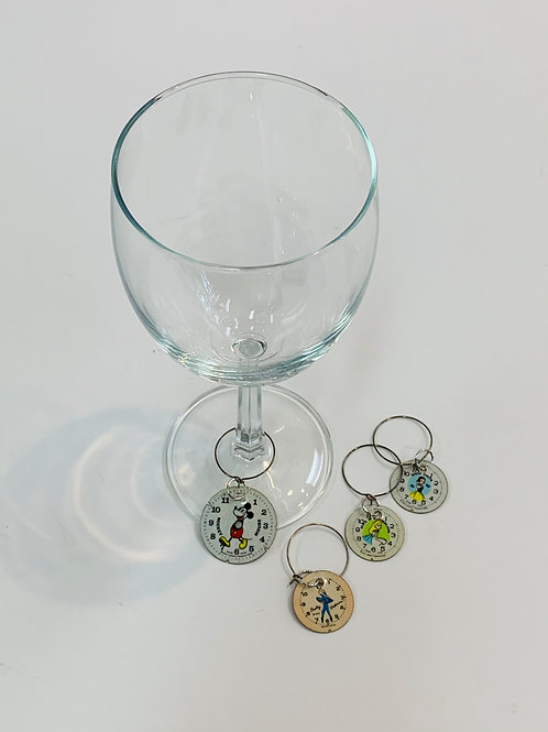 SOLD Bitz of Time Wine Charms (Set of 4)